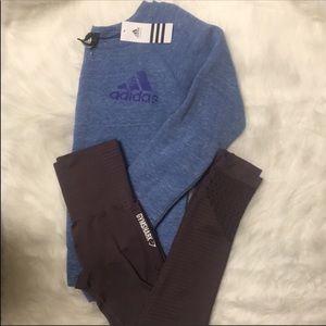 Adidas Off the Shoulder Sweatshirt